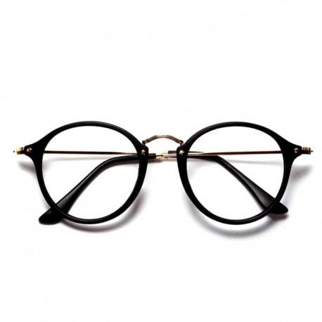 Очки черные с обычными стеклами без диоптрий