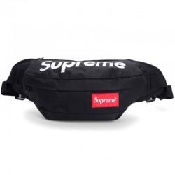 Черная поясная сумка Supreme
