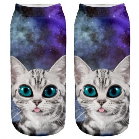 Носки с котенком в космосе