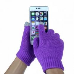 Перчатки для телефона фиолетовые