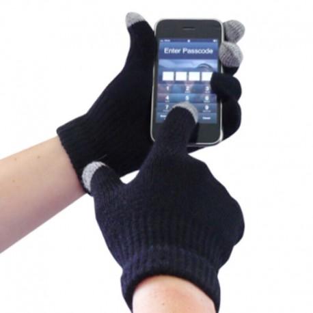 Перчатки для телефона темно-синие