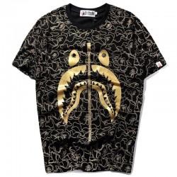 Футболка Bape Shark Black/Gold