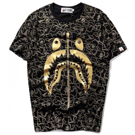Футболка Bape Shark Black/Gold