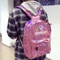 Голографический рюкзак розовый