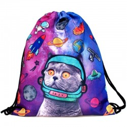 Мешок для обуви котенок в космосе