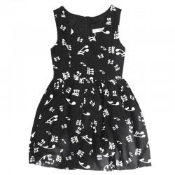 Платье с нотами