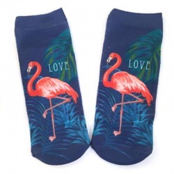 Носки с фламинго