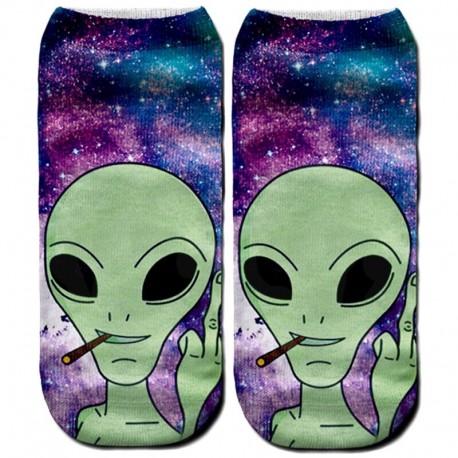 Носки с рисунком пришельца