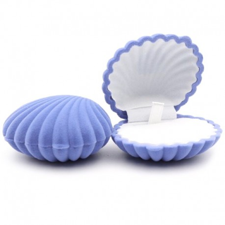 Бархатная коробочка для ювелирных изделий голубая