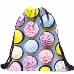 Сумка-мешок для обуви с пирожными