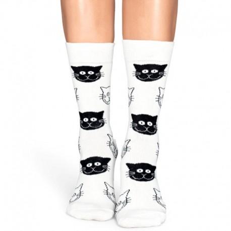 Белые носки с котиками