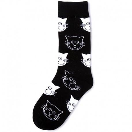 Черные носки с котиками