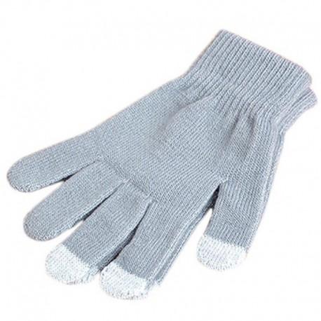 Перчатки для телефона серые