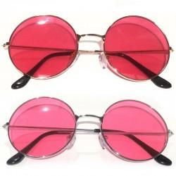 Круглые красные очки