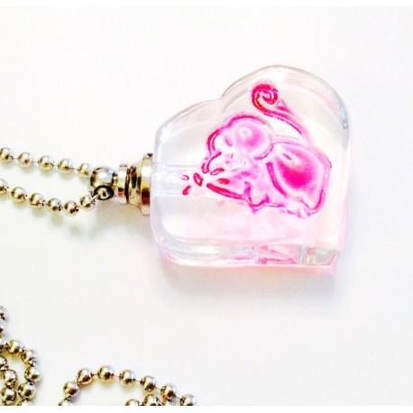 Бутылочка с закруткой сердце на цепочке