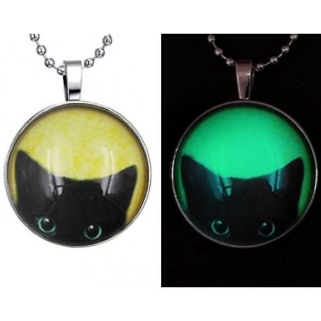 Кулон Кот светящийся в темноте 3,7 см