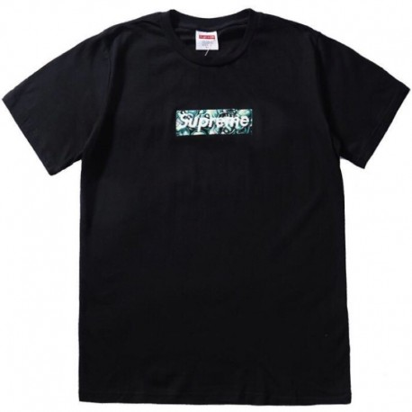 Футболка Supreme Green Skull Pile White Box Logo