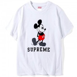 Белая футболка Supreme Mickey Mouse