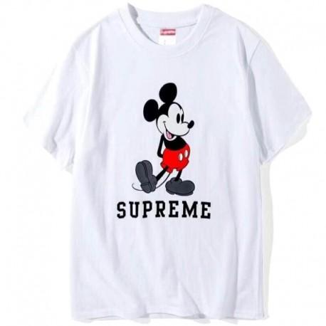 Белая футболка Supreme Mickey Mouse