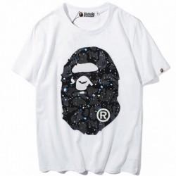 Белая футболка Bape Space Camo