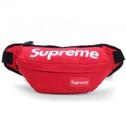 Поясная сумка Supreme красная