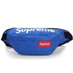Синяя поясная сумка Supreme