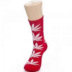 Красные носки с коноплей