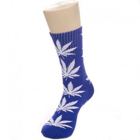 Синие носки с коноплей
