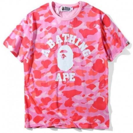 Футболка Bape розовая