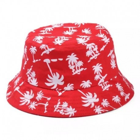 Панама с пальмами красная