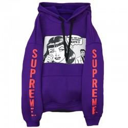Фиолетовая толстовка Supreme x Thrasher Boyfriend