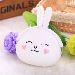 Белый кошелек Кролик
