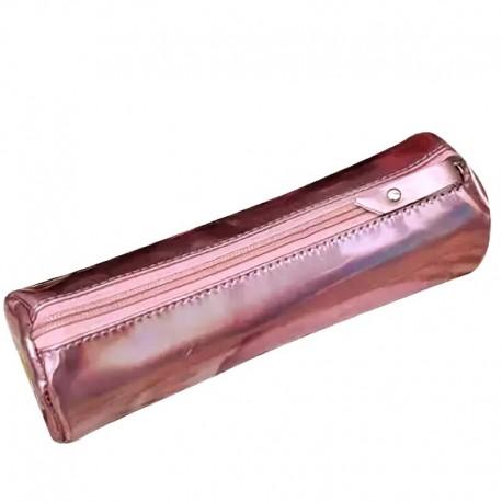 Розовый пенал блестящий