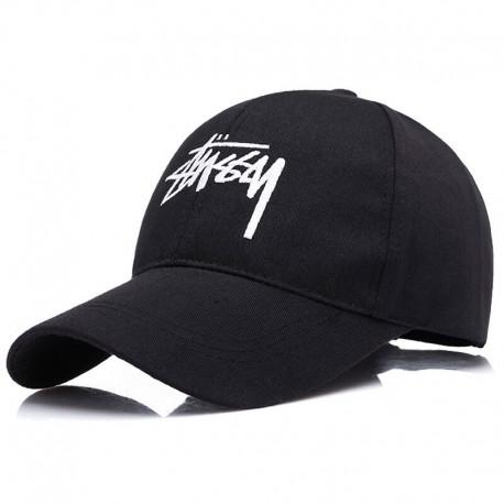 Черная кепка Stussy