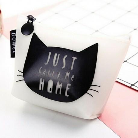 Белый кошелек с котиком