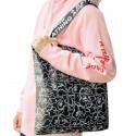 Большая кожаная наплечная сумка Bape
