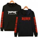 Черная толстовка Purpose Tour Justin Bieber