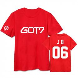 Красная K-POP футболка GOT7