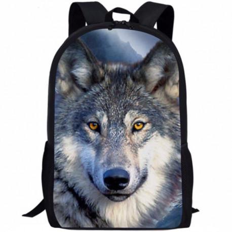 Школьный рюкзак с волком