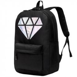 Черный рюкзак с бриллиантом