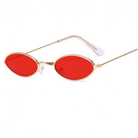 Овальные очки красные