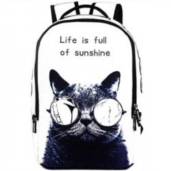 Школьный рюкзак с котом в очках