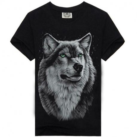 Мужская футболка с волком