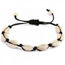 Морской плетеный браслет с ракушками