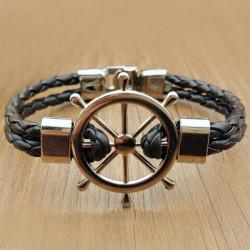 Морской плетеный браслет Штурвал
