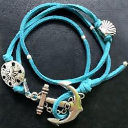 Морской браслет с якорем