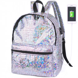 Голографический рюкзак с USB зарядкой