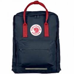 Большой рюкзак Kanken синий с красными ручками