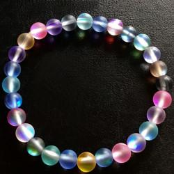 Эластичный браслет из синтетического лунного камня