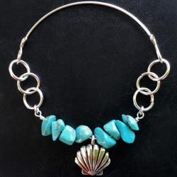 Морской браслет из бирюзы